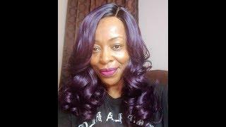 Cheap Janet Collection Wig Kiss Part Timber Black Purple Colourpop Zipper Lipstick Nightmoth Mac