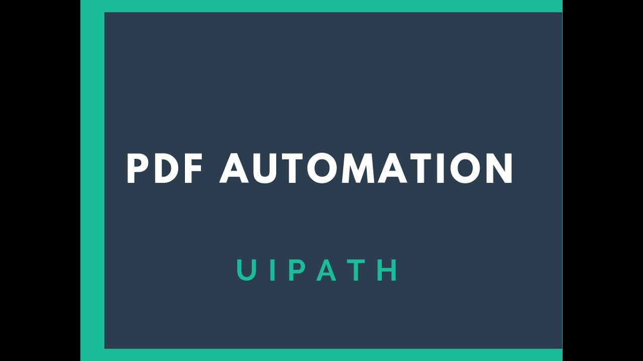 how to Read PDF using UiPath - RPA