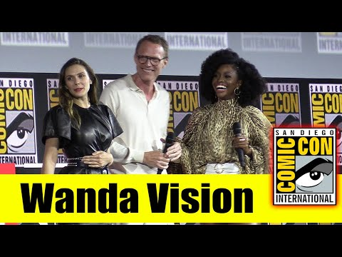 WANDA VISION   2019 Marvel Comic Con Panel (Elizabeth Olsen, Paul Bettany, Teyonah Parris)