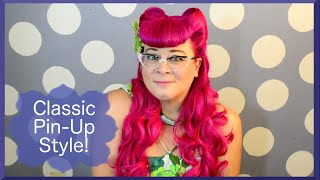 Victory Rolls & Bettie Bangs - Nikki Napalm Inspired Hair Tutorial