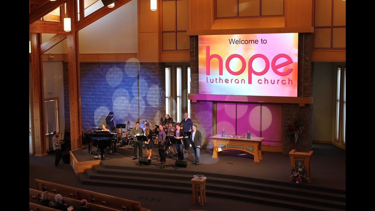 Hope Lutheran Church Fargo Nd New Sound Video Amp Lighting Systems Youtube
