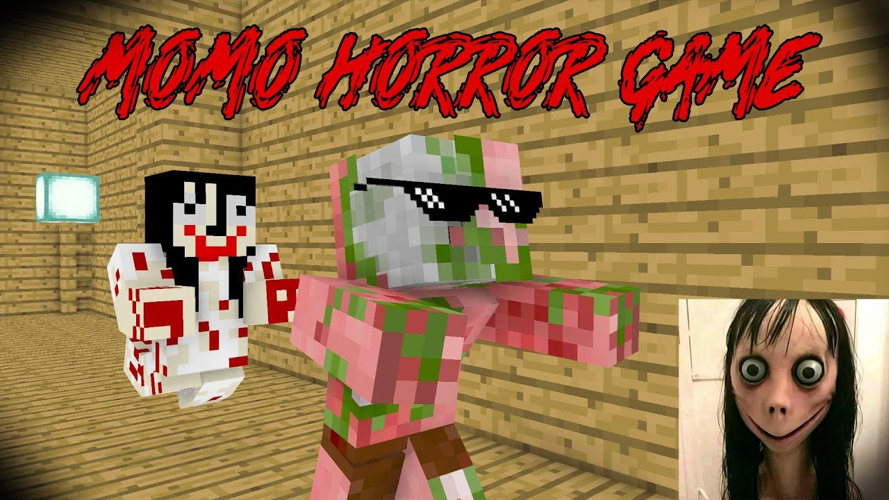 MOMO HORROR GAME CHALLENGE - MONSTER SCHOOL - MINECRAFT ANIMATION