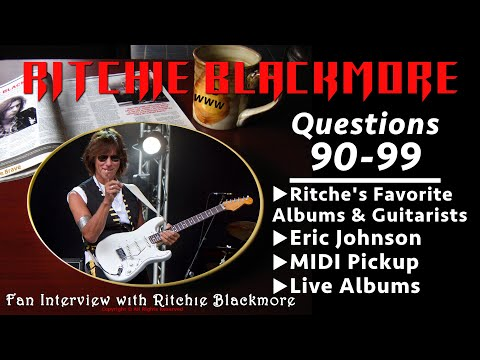 Ritchie Blackmore interview: Questions 90-99 Favorite Guitarists & Albums Russia 1996 Rainbow Fans