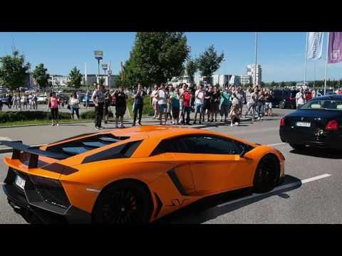 Lamborghini invasion at Boblingen Cars & Coffee 11 June 2017