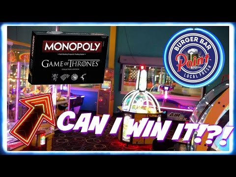 Point Burger Arcade Can I Win it? Game Of Thrones Monopoly ArcadeJackpotPro