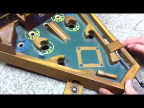 Pinball Baseball Vintage Desktop Retro Fantasy Gaming Arcade Wooden Steel Ball