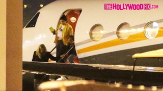 The Kardashian Family, Kylie Jenner, Tyga & North West Return Home From Thier Costa Rica Vacation