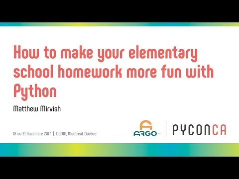 Image from How to make your elementary school homework more fun with Python