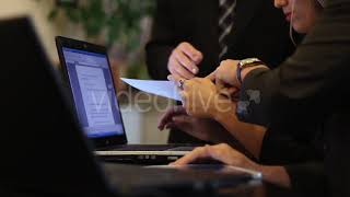 Business People Discussing at Meeting of Projects - Stock Footage from Videohive