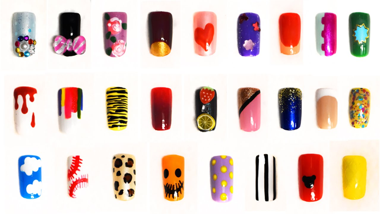Short nails compilation: 26 very easy designs for beginners - YouTube