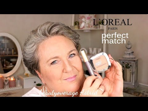 L`ORÈAL | Perfect Match Puder & Voluminous Mascara | Live/demo | beautyoverage Astrid