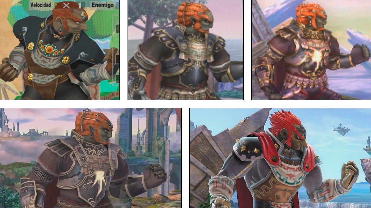Super Smash Bros Ultimate Ganondorf Evolution 2001 2018