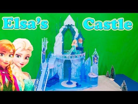 FROZEN ELSA Disney Frozen Queen Elsa Ice Castle Disney Frozen Video Toy Review