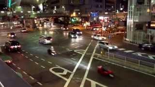 渋谷駅周辺の警察署前の交差点 Shibuya