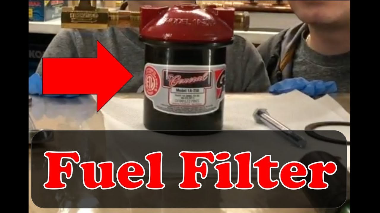 How to CHANGE FUEL FILTER on your BOILER or FURNACE - YouTubeYouTube