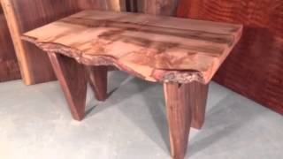 Custom Maple And Walnut Slab Coffee Table By Dumonds Custom