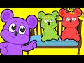 🌟 FIVE LITTLE BABIES 🌟 with GUMMY BEARS | Nursery Rhymes | Cartoons for kids
