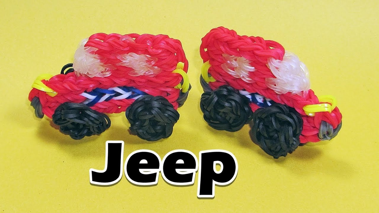 Rainbow Loom Jeep Bus Charm Cars Youtube
