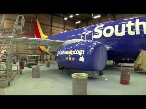 Painting our new Southwest Heart Livery