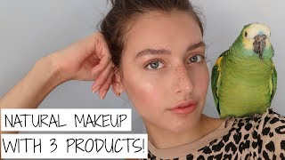 3-Product Natural Everyday Maĸeup Tutorial | Jessica Clements