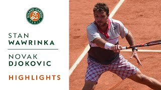 Stan Wawrinka v Novak Djokovic Highlights - Men
