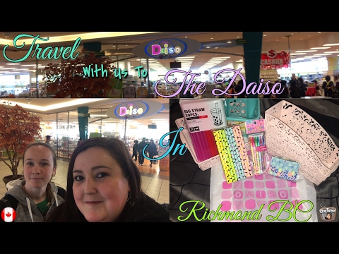 DAISO Haul & Travel With Us: 2 THE DAISO IN RICHMOND BC 🇨🇦