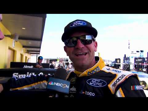 Clint Bowyer reacts to Las Vegas pole win: Hell (the car) must drive itself