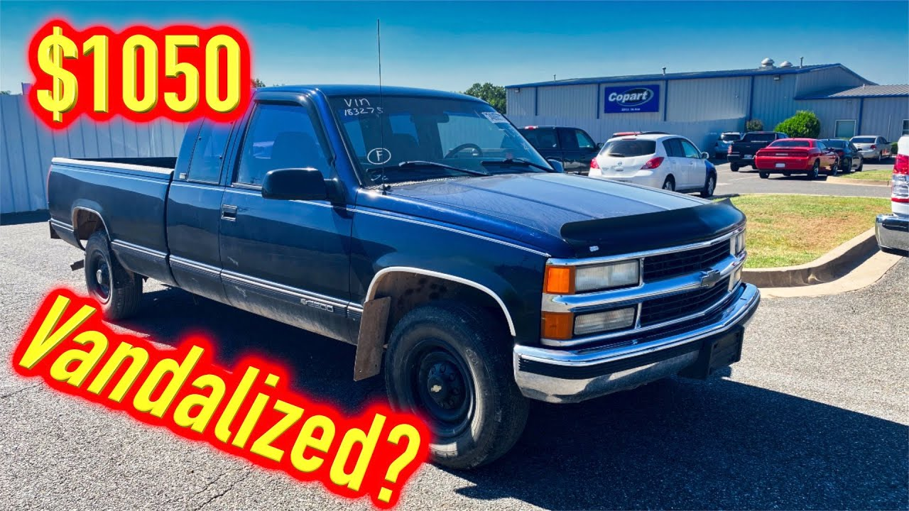 I Won a 96 Chevy 2500 Vandalized from Copart for $1050 - Run and Drive?