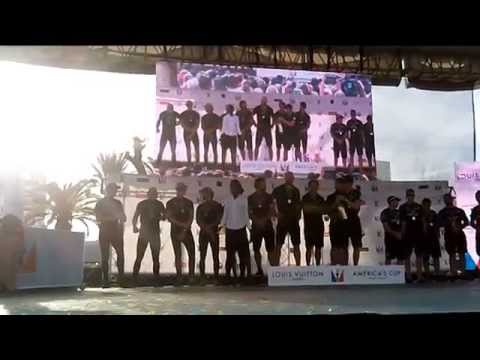 Champagne Splashing at LV America's Cup World Series Awards