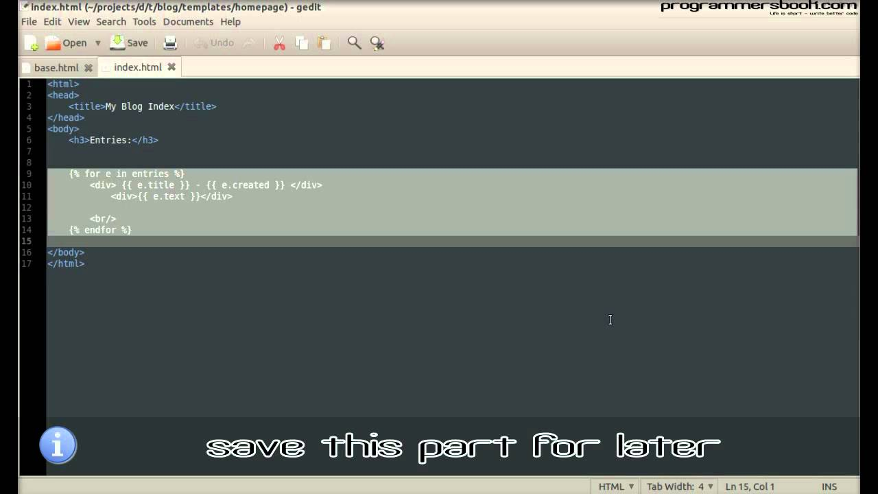 Advanced Template - Full Web Framework Python Django Tutorial XI ...