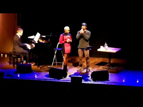 Cynthia Erivo & Leslie Odom Jr singing from Hamilton Dear Theodosia