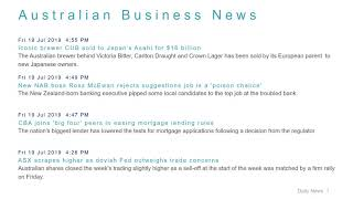 Business News Headlines for 19 Jul 2019 - 6 PM Edition
