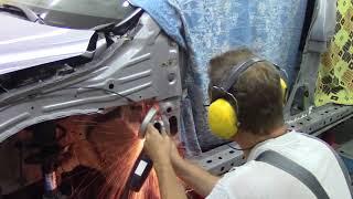 Кузовной ремонт. Хонда CRV, боковой удар, #2.Body repair.