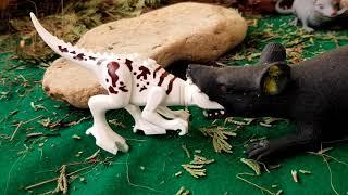 - ЛЕГО ДИНОЗАВРЫ И ДВА ХВОСТА КРЫСЫ В БОЧКЕ Приключение динозавров