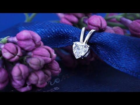 Кулон с бриллиантом сердце 0,20 карата от Diamond Gallery