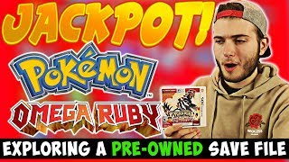 EXPLORING a PRE-OWNED SAVE FILE! | WE HIT THE JACKPOT!!! ( Pokemon Omega Ruby)