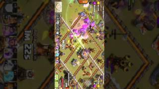 Clash of clans - combo bowler + witch clear hall 11 max