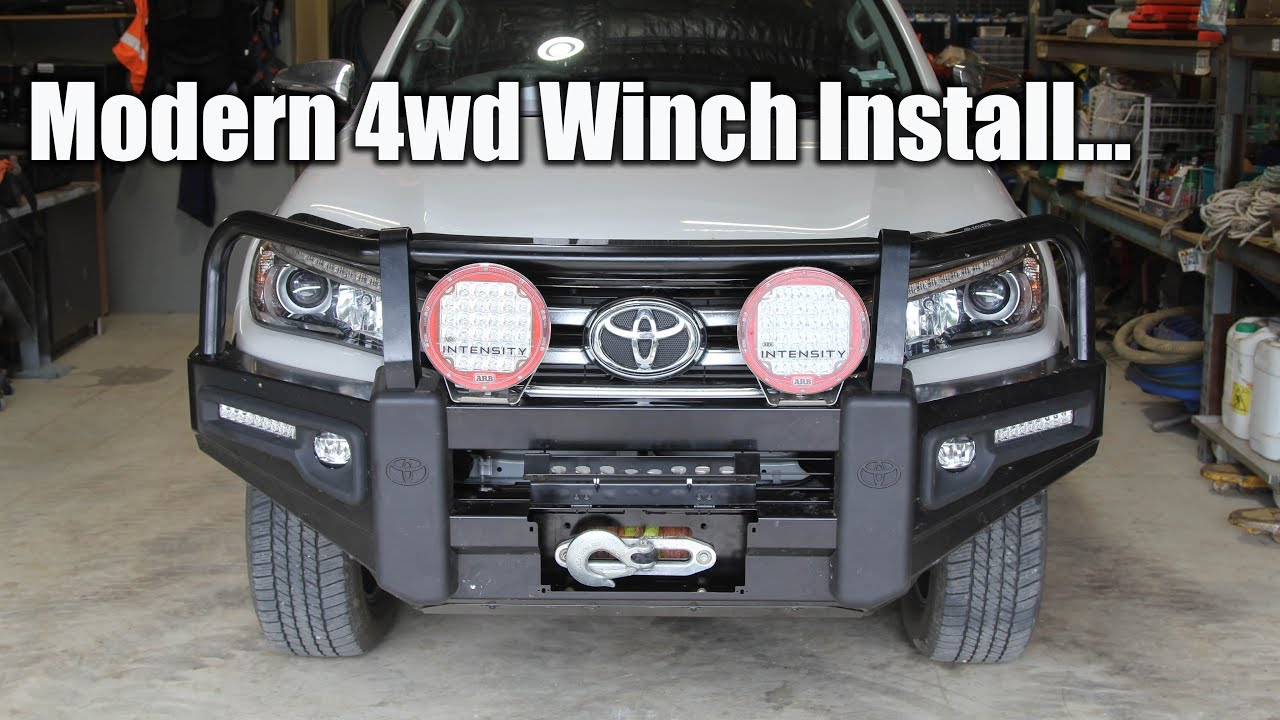 Toyota Hilux Modern 4wd Winch Install Youtube