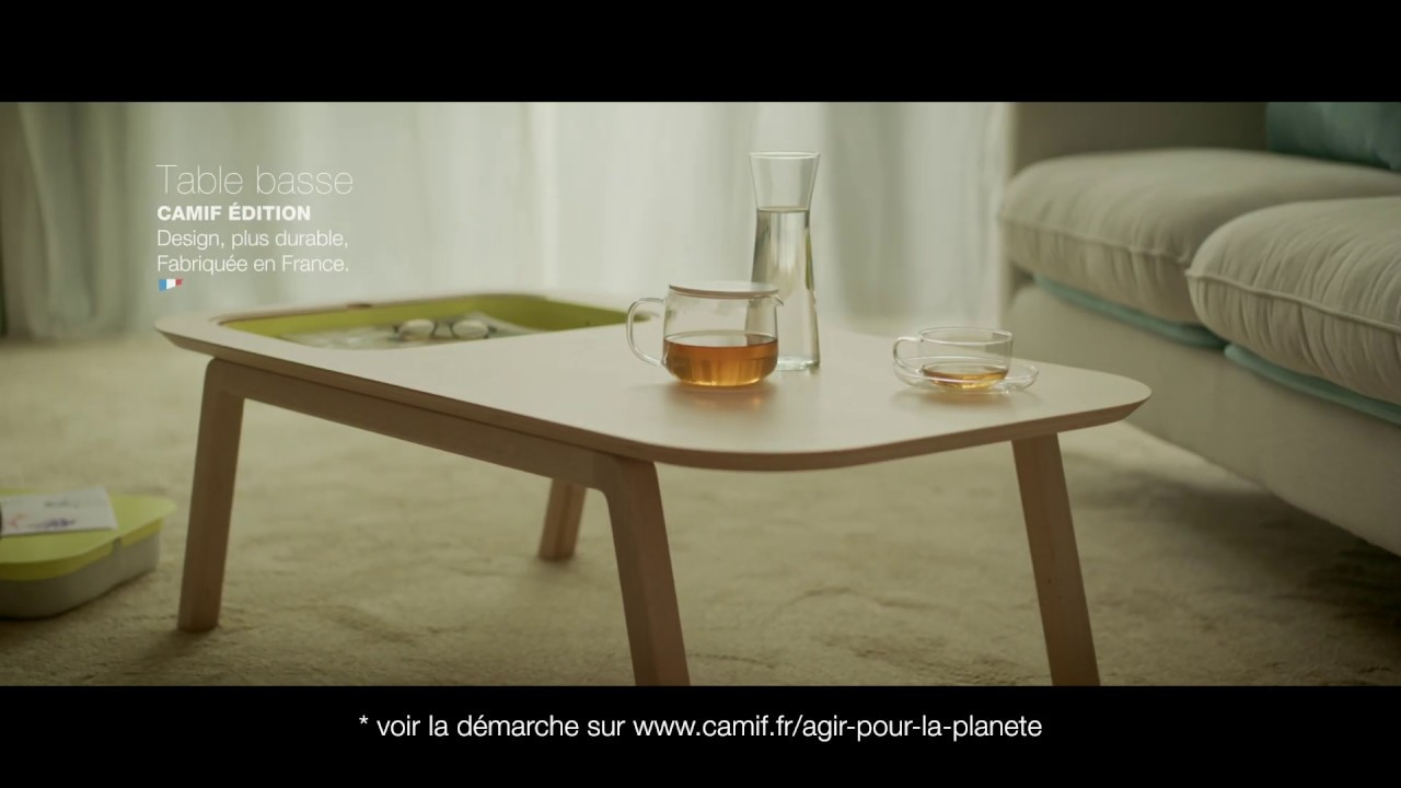 camif fr pub tv table basse