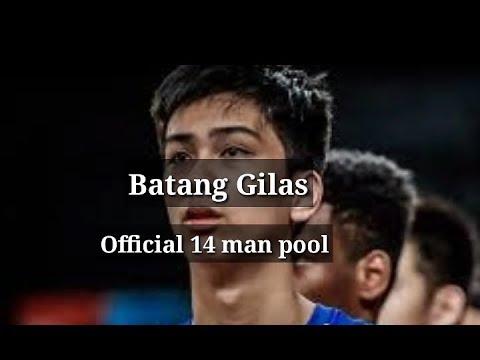 BATANG GILAS OFFICIAL LINE UP for FIBA WORLD CUP U19