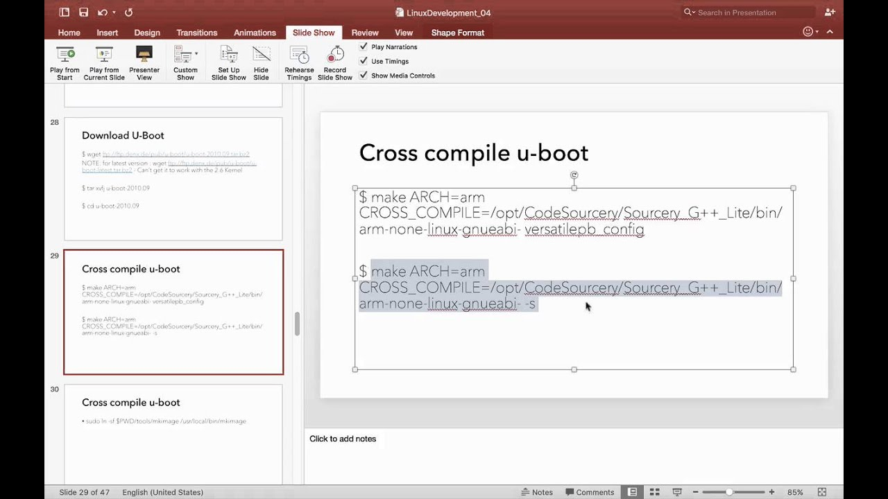 Linux u-boot - Download, Compile and Run