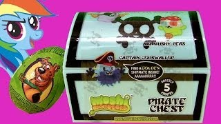 Moshi Monsters Pirate Chest With Captain Codswallop & Pirates + Scooby-doo Kinder Surprise Huevo
