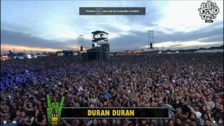 Duran duran - (reach up for the) sunrise/ new moon on monday en lollapalooza 2017 argentina