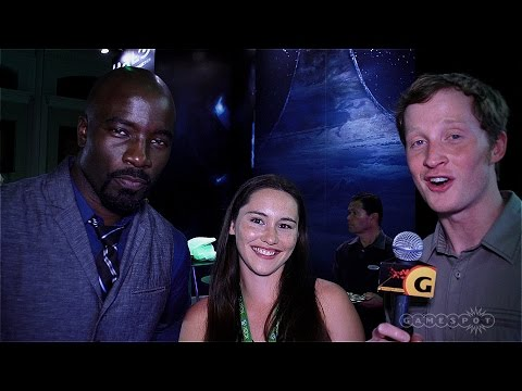 Halo Nightfall with Christina Chong and Mike Colter at ComicCon 2014