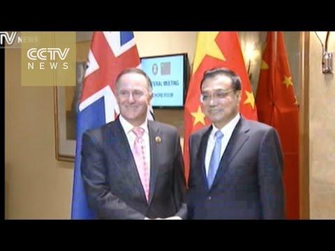 Chinese Premier Li meets PMs from India, Australia, Laos, New Zealand