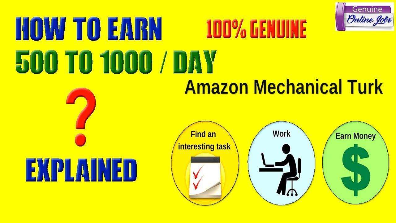 make money on amazon mechanical turk