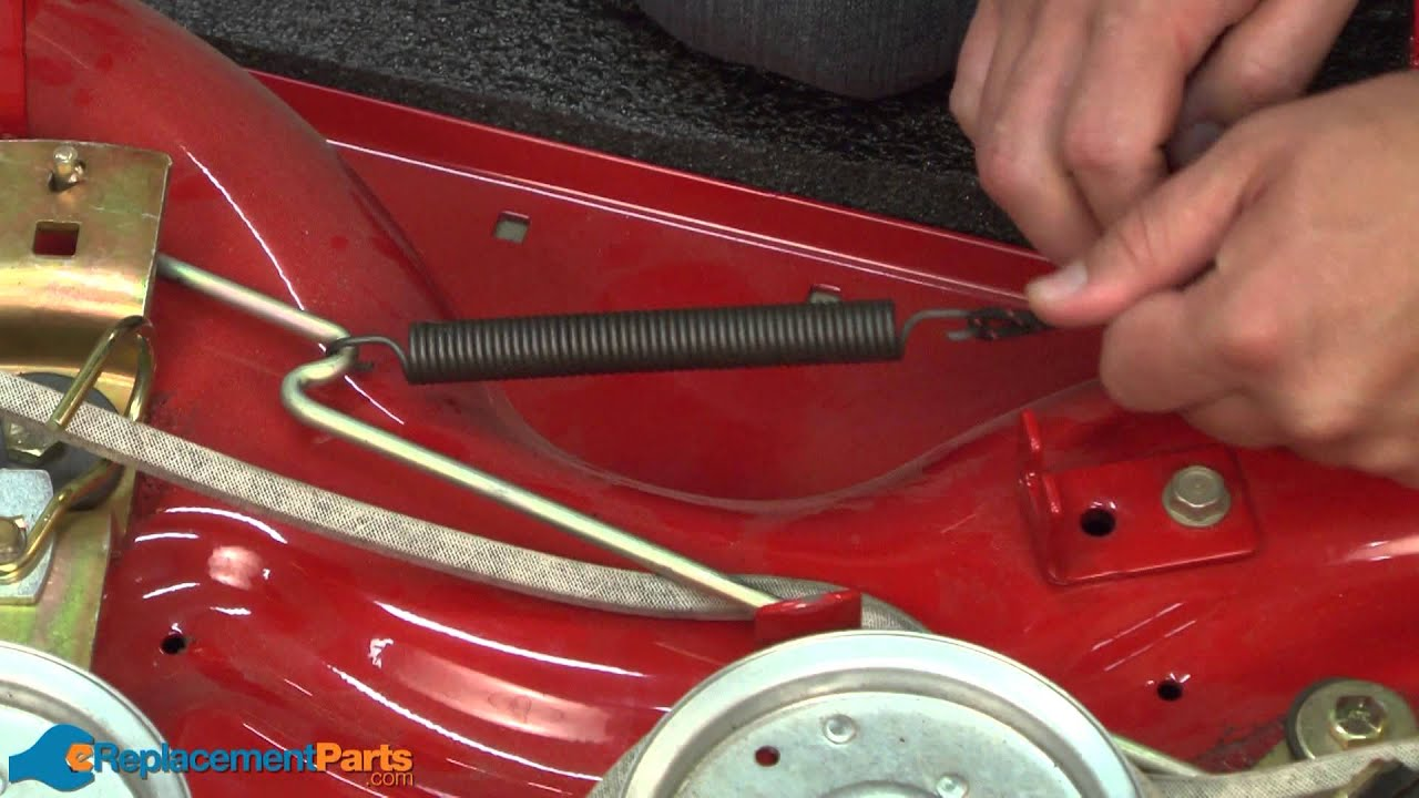 how to replace the extension spring on a troy bilt pony lawn tractor part 932 0384  [ 1280 x 720 Pixel ]