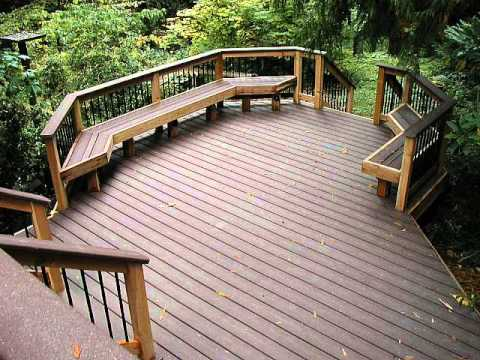 composite decking material tongue and groove - YouTube