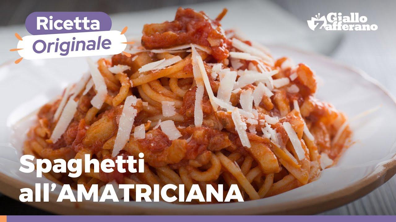 Ricetta Amatriciana Max.Amatriciana Ricetta Originale Youtube