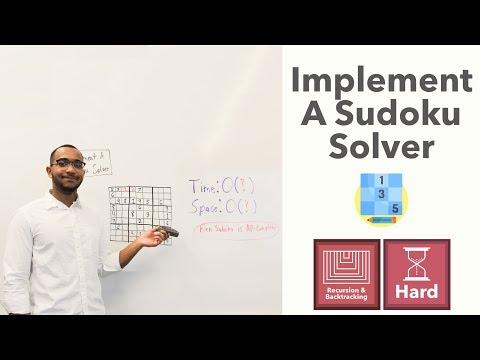 "Implement A Sudoku Solver - Sudoku Solving Backtracking Algorithm (""Sudoku Solver"" on LeetCode)"